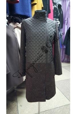 9642b447af40 Пальто женское комбинированное прямой силуэт - купить в Туле. Цена ...