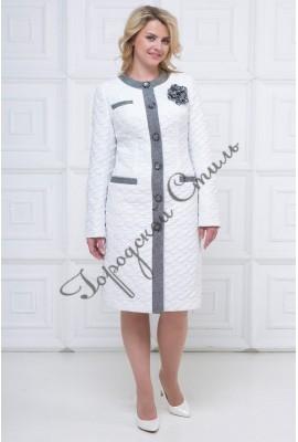 08d767d08d17 Женское пальто из плащевой ткане, комбинированное - купить в Туле ...